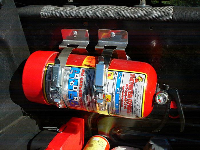 поведение, Какой огнетушитель нужен для грузового автомобиля задержкой