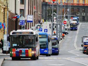 Наказание за объезд автобуса на остановке через сплошную